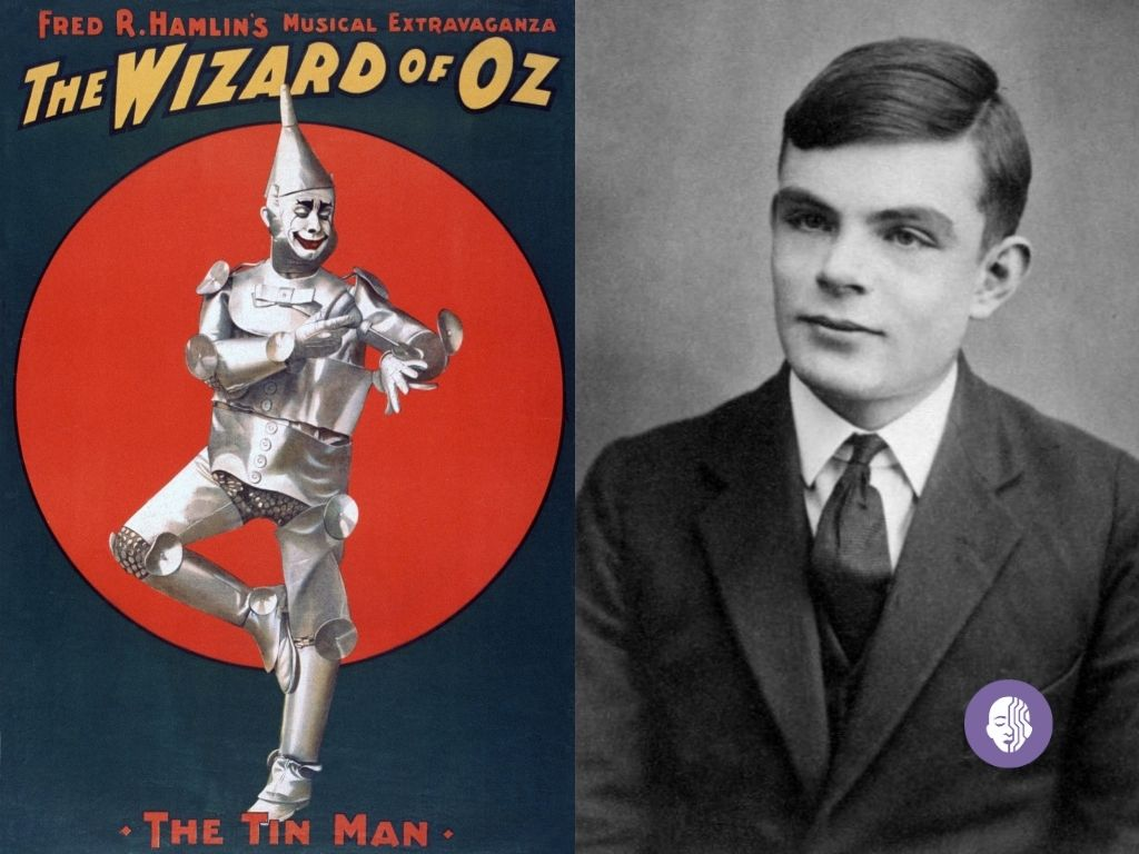 Left: Wizard of Oz | Right: Alan Turing aged 16 (Image credit: Turing Archive)