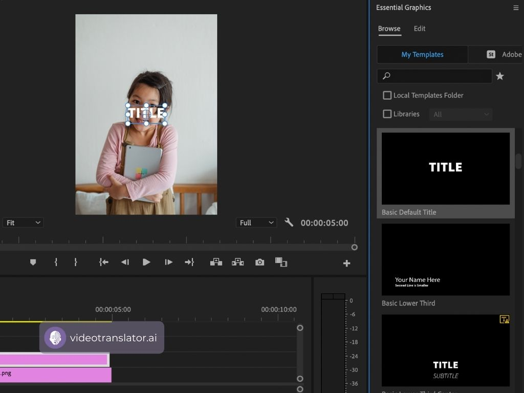 Add Text Templates To Your Video In Adobe Premiere Pro
