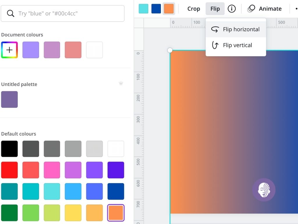 Adjust The Colour Of Your Gradient On Canva