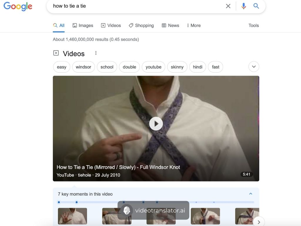 Example of Video SEO