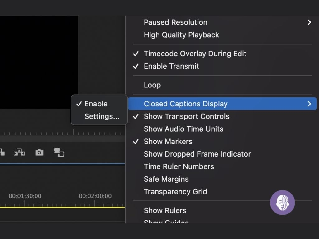 Make sure to enable closed captions display in Adobe Premiere Pro to have subtitle