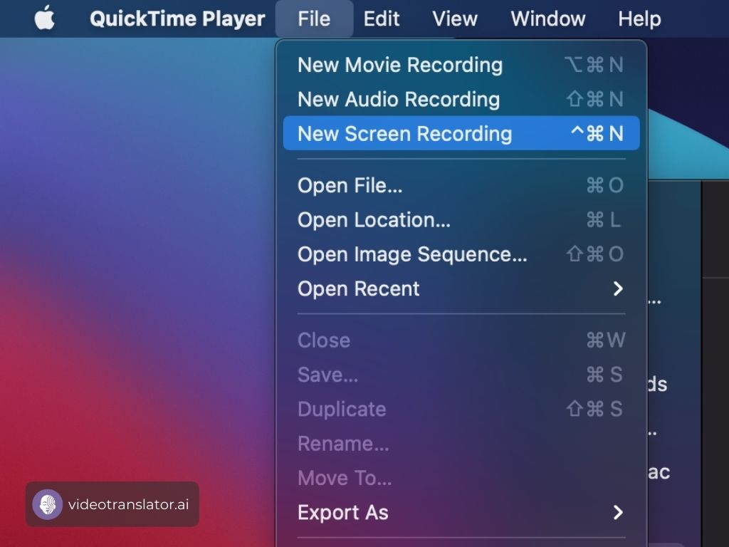 Record Your Screen On QuickTime Player