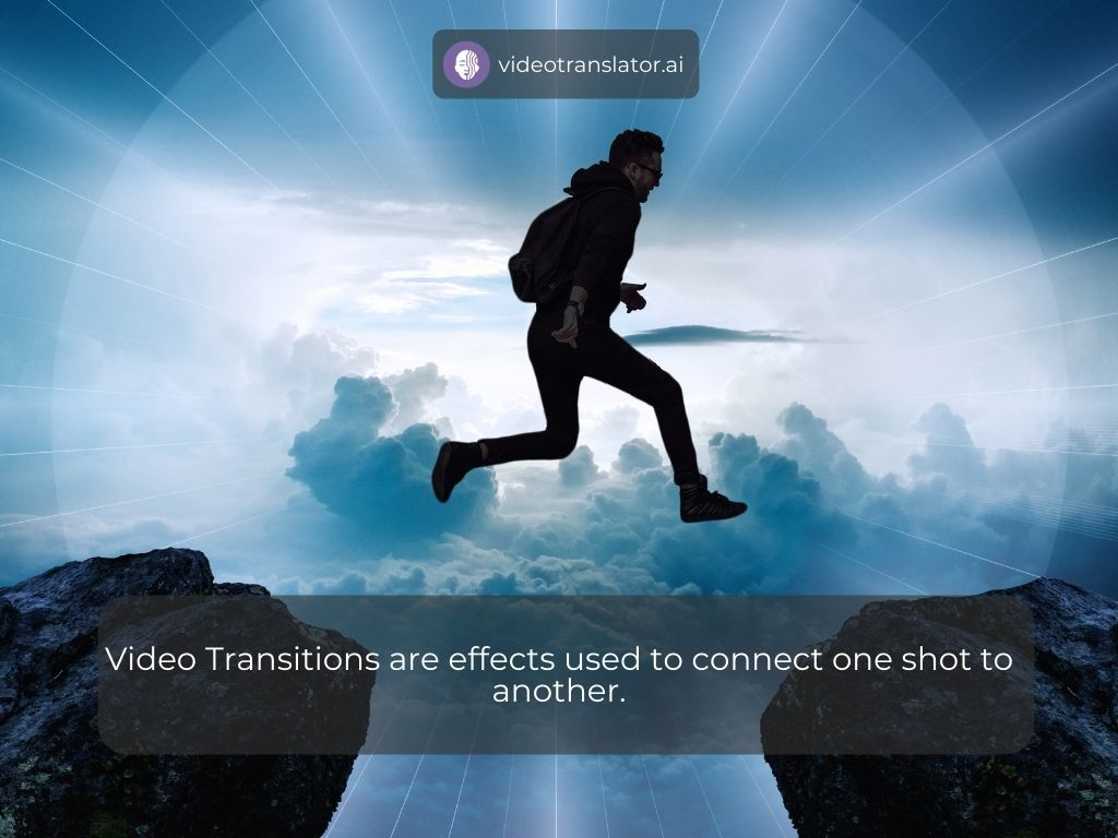 Video Transitions are effects used to connect one shot to another.